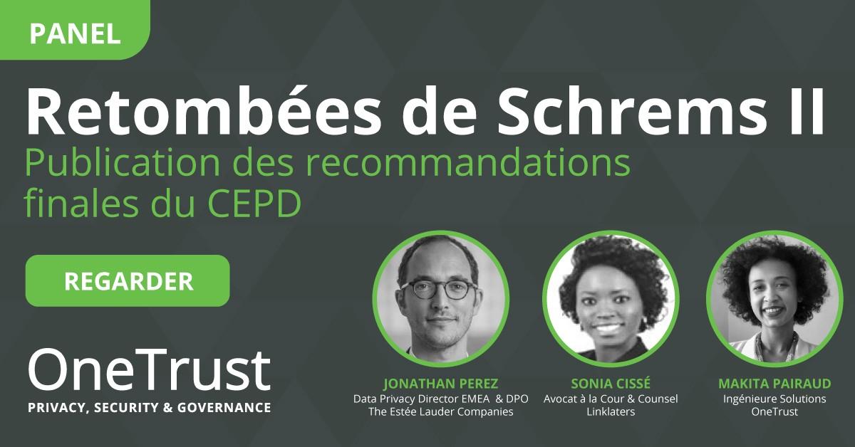 Recommandations CEPD