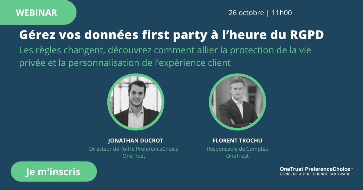 Webinar sur les données first-party